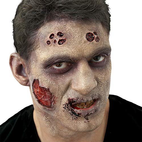 Guy Makeup Tutorial For Halloween (Woochie by Cinema Secrets FX Complete Accessory Makeup Kit - Flesh Eater Zombie, Multi, One)
