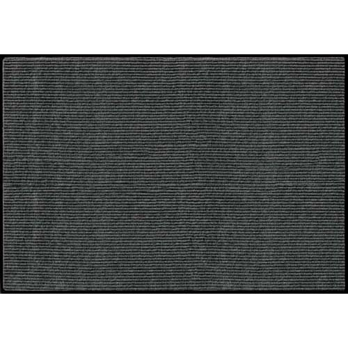 Apache Mills Rib Commercial Carpeted Indoor and Outdoor Floor Mat, Pepper, 4-feet by 6-Feet