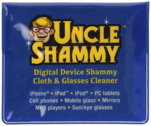 """Chamois Cleaning Towels 3 Pack, Mini – 5 1/4"""" X 5 3/4"""" Shammy Cloths Convenient Size to Clean Smudges, Fingerprints and Grime From Your Cellphone, Sun/eyeglasses, Mobile Glass, Laptops, Small Mirrors, and More. Comes in a Reusable Carry Pouch."""