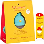 Lollaland Weighted Straw Sippy Cup for Baby: Lollacup - Transition Kids, Infant & Toddler Sippy Cup (6 mon