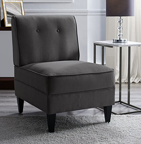 Serta UPH10023B Copenhagen Slipper, Accent Chair, Charcoal