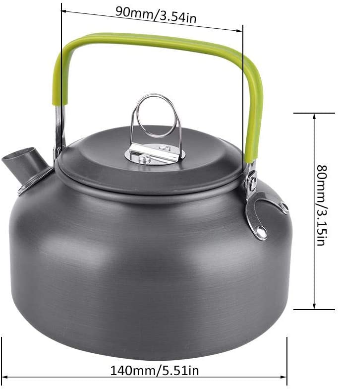 Pasamer Outdoor tragbare Kaffeekanne Camping Wasserkocher Wandern Picknick BBQ Teekanne Aluminium Quick-Heat /& Verbr/ühschutz 800ML