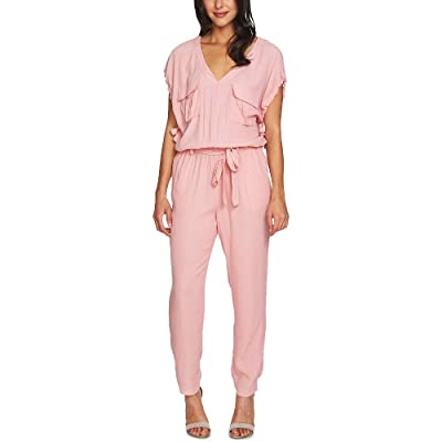1.STATE Tie-Waist Jumpsuit (Rose Nectar, S): Clothing
