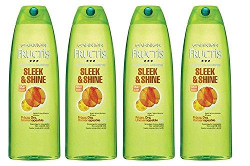 Garnier Fructis Sleek & Shine Family Size Shampoo 25.4 oz (Pack of 4)