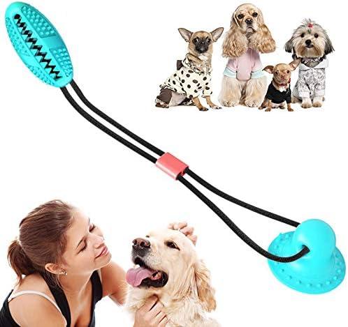 YOJINKE Cordas de Cães Autobrincantes com Ventosa de Sucção TPR Bola Dispensadora de Cães, Brinquedo Interativo Molar Mastigável para Limpeza de Dentes e Treinamento de Mastigação