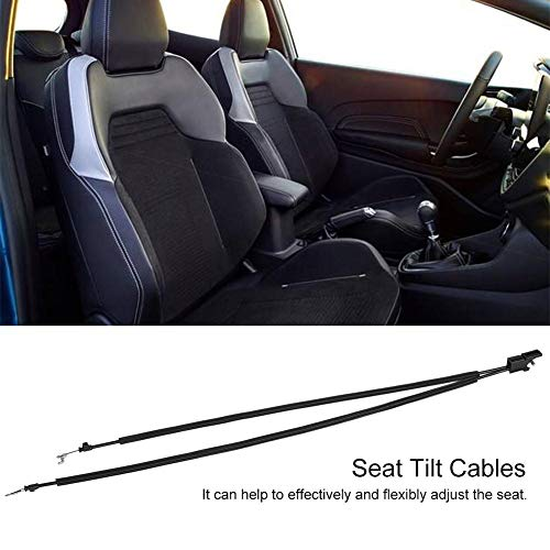 KIMISS Front Seat Tilt Cable Set Passengers Side Tilt Cable for MK6 2001-2008 R/L Hand Seat Black ((Drivers Side)) by KIMISS (Image #1)
