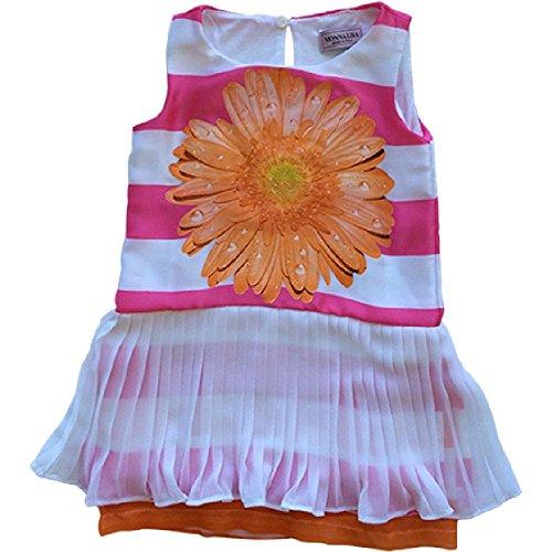 Monnalisa Kids Clothing - Monnalisa Little Girl Daisy Dress Pink (6)
