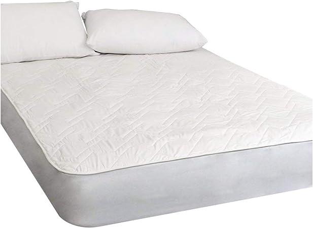 Protector de colchón de algodón natural transpirable, con tecnología 3D Air Relax, tela, cama doble: Amazon.es: Hogar