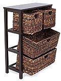 BIRDROCK HOME Seagrass Cubby Dresser - 4 Drawer