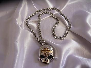 Pendentif collier Harley Davidson Bike chaîne bijoux Devise rrad en acier  inoxydable emblème Skull Tête de