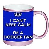 I Can't Keep Calm I am a Dodger Fan PINK 11 ounce Ceramic Coffee Mug Tea Cup by Debbie's Designs