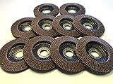Flap Disc Wheels 40 grit 10 Pack Type 29/4.5''x7/8'' Premium