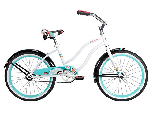 Huffy Bicycle Company Number 23555 Girls Good Vibrations Bike, White Beach, 20-Inch