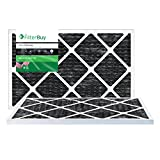 FilterBuy Allergen Odor Eliminator 14x30x1 MERV 8 Pleated AC Furnace Air Filter with Activated Carbon - Pack of 2 - 14x30x1