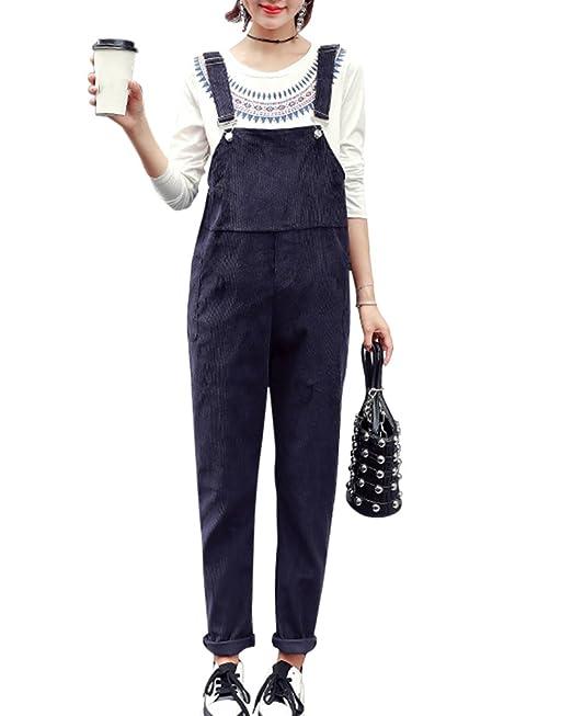 DianShao Slim Overall, Peto Premamá Pantalones para Embarazadas para Mujer Armada L