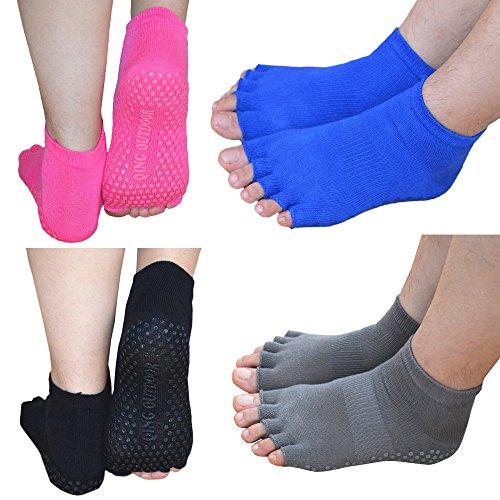 womens-cotton-toeless-yoga-pilates-non-skid-socks-perfect-for-yoga-pilates-barre-fitness-studio-work