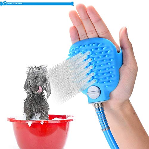 YTT Pet Bathing Sprayer Scrubber Shower Message and Grooming Tool Supply, Combination Multi-Functional Sprayer and…