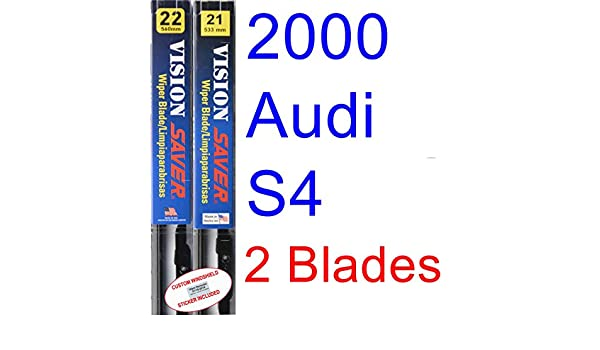 Amazon.com: 2000 Audi S4 Replacement Wiper Blade Set/Kit (Set of 2 Blades) (Saver Automotive Products-Vision Saver): Automotive