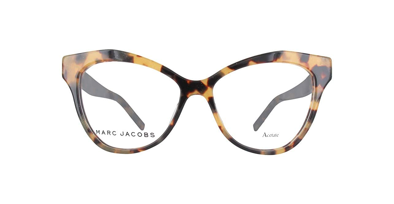 28fb205c77f Amazon.com  Marc Jacobs Plastic Cat Eye Eyeglasses 51 0O2V Glitter Havana   Clothing