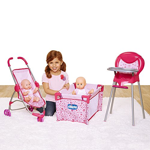 Chicco Deluxe Nursery Time Fun for Baby Dolls Play Set, Pink [Amazon Exclusive] ()