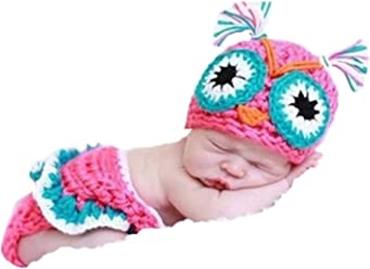 d8d2c936322 Eyourhappy Handmade Knitted Crochet Costume Baby Photography Props Owl