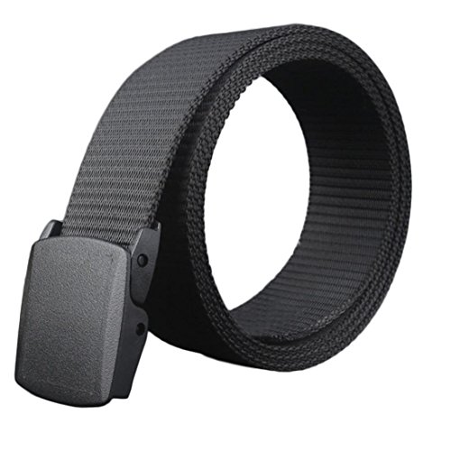 Canvas Classic Belt (Yoyorule Canvas Belt Hypoallergenic Metal-free Plastic Automatic Buckle)