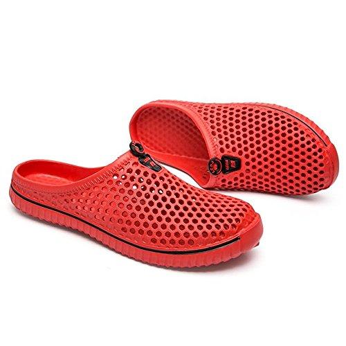 e ampia Rosso scarpetta EU uomo da con multicolor da da Sandali spiaggia resistenti 2018 Color da Uomo shoes Scarpe Dimensione Xujw Muli Bianca 37 antiscivolo donna qw48TUxx