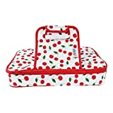 Premium Thermal Insulated Stylish Casserole Carrier to Tote and Keep Best Lasagna Potluck Picnic Holiday Dish & Recipes Hot or Cold for Hours by Domestic Diva LA (Cherry)