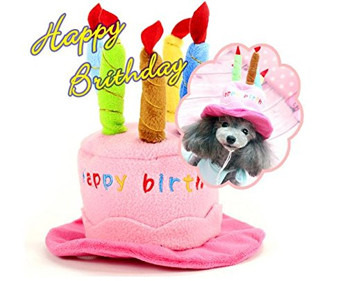 [Mkono Cute Birthday Hat with Cake & Candles Party Costume Headwear for Small Dogs & Cats] (Holloween Spirits Costumes)