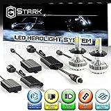 Stark 90W 9000LM LED Headlight Conversion Kit - Cool White 6000K 6K - Dual Hi/Lo Beam - H4 / HB2 / 9003