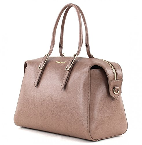 Coccinelle Flo Bolso totes piel 30 cm Taupe (Marrón)