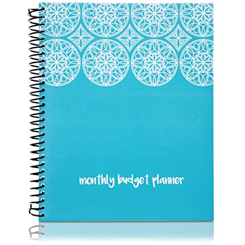 Paper Junkie Monthly Budget Organizer Planner Notebook with 24 Pockets for Receipts and Bills, Blue, 8 x 10 Inches (Best Health Savings Account 2019)