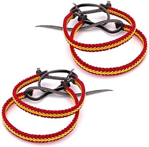 MovilCom® Pack de 4 Pulseras Pulsera de Cuero e Hilo Trenzada Colores Bandera ESPAÑA 4 Unidades Color Amarillo y Rojo: Amazon.es: Joyería