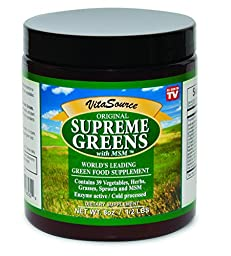 Supreme Greens with MSM Powder (113 Servings / One Month Supply): Nutrient Rich Dietary Supplement, All Natural Energy Boosting Superfood, 8 oz. Powder, Made in USA