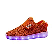 Ronshine Boys Girls USB Led Light USB Led Light Kids children Unisex Sisters Brothers Casual Fashion Sneakers Breathable Athletic Sports Shoes