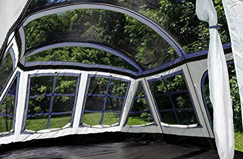 Tahoe Gear Glacier 20 x 12″ 14-Person 3-Season Family Cabin Tent, Blue and White