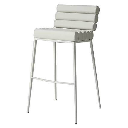 Astonishing Impacterra Qlfy210243978 Fuego Maya Stool 30 Bar Height Sf Matte White Pu Ivory Evergreenethics Interior Chair Design Evergreenethicsorg