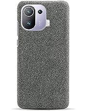 Hoesje Xiaomi Mi 11 Pro Hoezen Stoffen Vilten Geval Kwaliteit Stof en Harde PC Hoes Ultralicht Krasbestendig Stof + Plastic Anti Schok Achterkant voor Xiaomi Mi 11 Pro