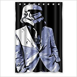 Custom Fashion Design Stormtrooper Style Star Wars Shower Curtain Home Decoration Mildew Waterproof Polyester Fabric Bathroom 48 X 72 Inch