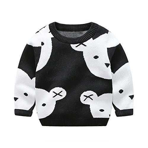 Top and Top Toddler Baby Boys Girls Cute Bear Cartoon Fleece Cashmere Knitted Pullover Sweaters 1-5T (90/2 years)