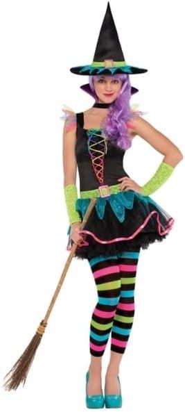 Christys London Disfraz de Bruja neón para niñas y Adolescentes en ...
