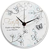 Mark My Words Faith Sentiment Self Standing Wall Mount Clock, 6-Inch, Round