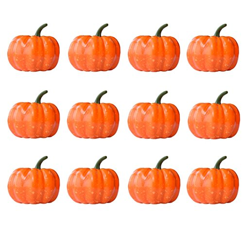 Mayin 12PCS Artificial Vegetables Simulation Pumpkins Home House Kitchen Garden Decoration Fake Mini Pumpkins for Halloween Party Favors Thanksgiving Party Decorations from Mayin