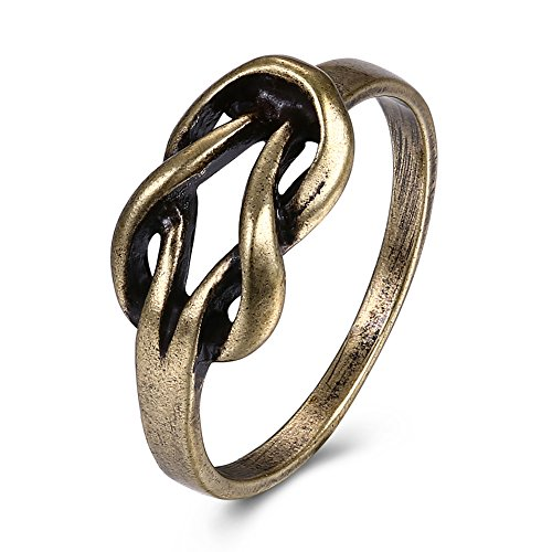 Bronze Ring - KopooaP Classical Antique Bronze Band Rings Gold Jewelry Birthday Gifts Presents Design for Women