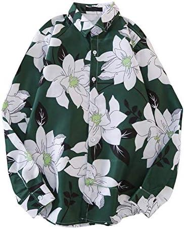 メンズ アロハシャツ 長袖 ブラウス トップス 花柄 前ボタン 折り襟 薄地 夏着 前ボタン 羽織り 着回し ゆったり カジュアルシャツ モテシャツ 着痩せ ハワイ風 おしゃれ デイリー