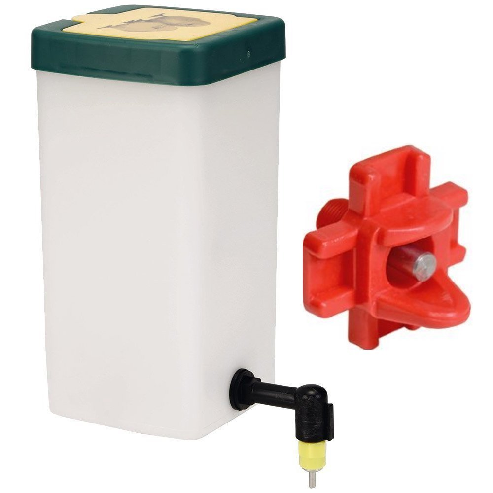 RentACoop Chick Waterer 1Liter Drinker Plus Red Versatile Nipple. Red or Green Lid Randomly (Pack of 1) by RentACoop