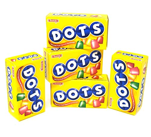 - Tootsie Dots Assorted Fruit Flavored Gumdrops Candy, Mini Boxes, 50 Count Pack