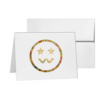 Smile Emoji Cool Smiley Face Emoticonos En Blanco Tarjeta