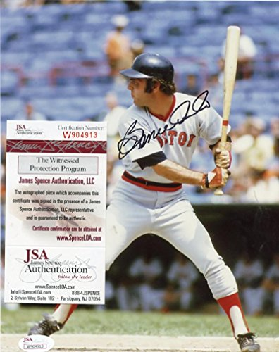 (BERNIE CARBO BOSTON RED SOX SIGNED AUTOGRAPHED 8X10 PHOTO JSA WP 904913)