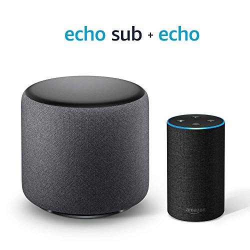 Echo Sub Bundle with Echo (2nd Gen) - Charcoal - Bundle Subwoofers